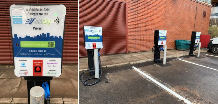 Installation of three Vehicle-to-Grid (V2G) chargers at the University of Warwick