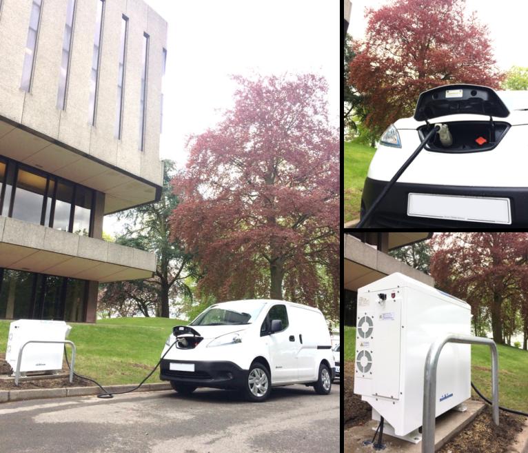 Vehicle-to-Grid at Hallward Library – University of Nottingham